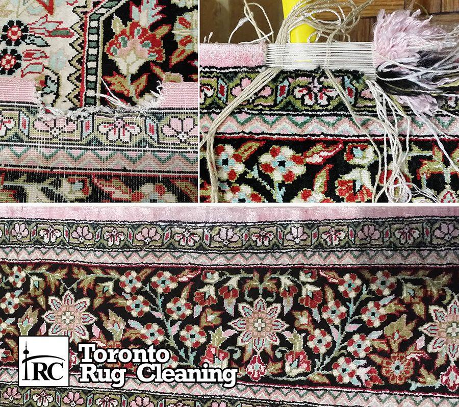 Fine Persian Antique Silk Reweaving